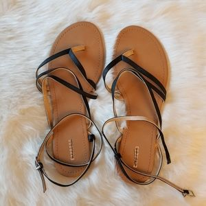 Express Strap Black Sandals Size 10 New